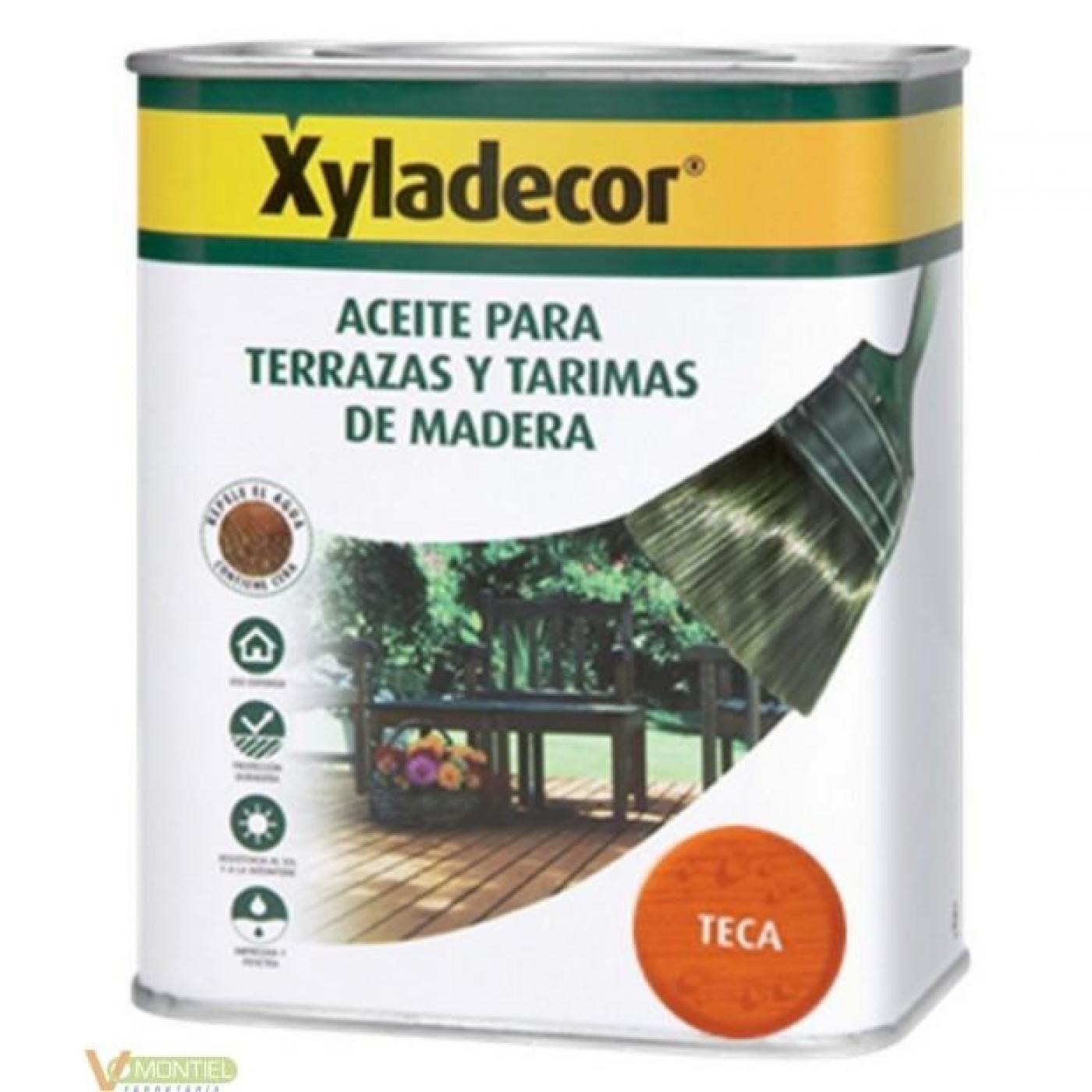 Aceite teca para terrazas y tarimas de madera xyladecor - Aceite de teca para madera ...