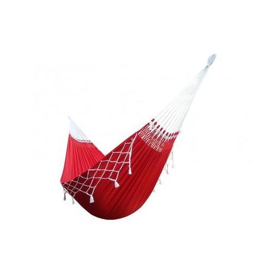 Hamac basique rouge (avec franges)