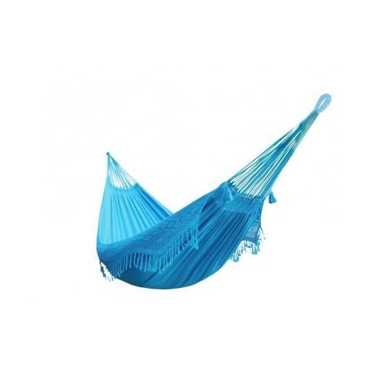 Hamac confort turquoise L (avec franges)