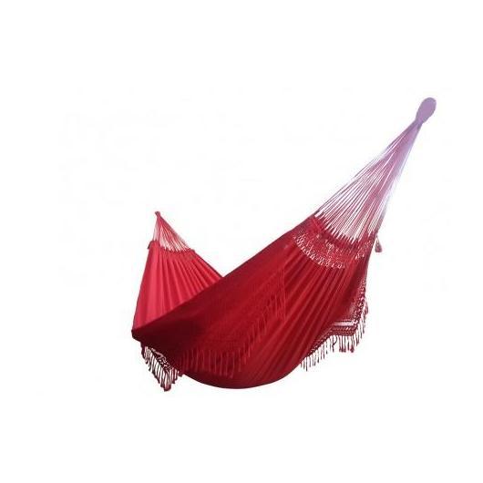 Hamac Confort rouge L (avec franges)