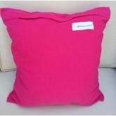 Almofada quadrada rosa