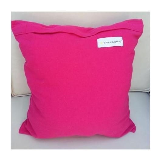 Coussin carré rose
