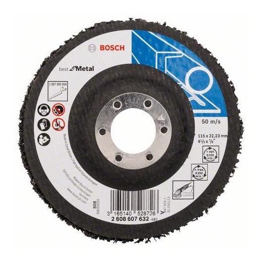Disco de limpieza Bosch para amoladoras 115 x 22 mm para metal