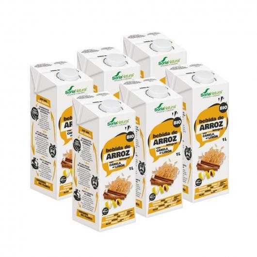 Confezione 3x1 Latte di riso, Cannella e Limone ECo 1L Soria Natural