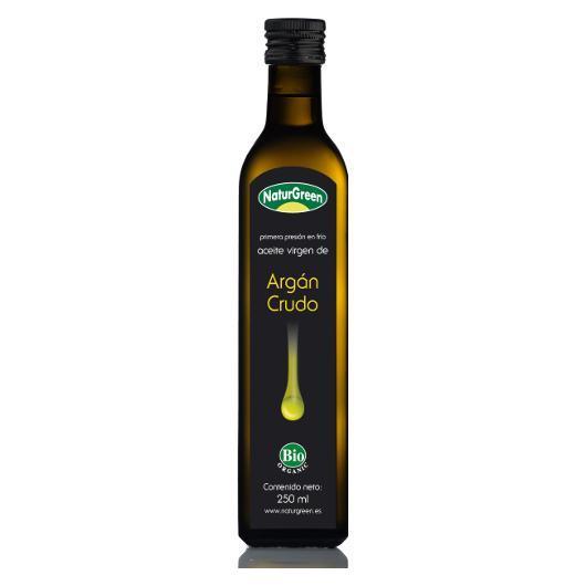 Aceite de Argán Crudo Bio  NaturGreen, 250 ml