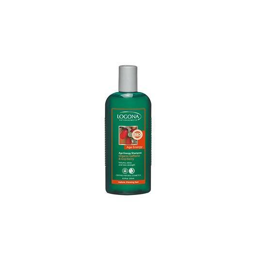 Shampooing Age Energy cafféine et baies de Goji Logona, 500 ml