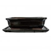 Tiesto Basic rectangular negro + plato