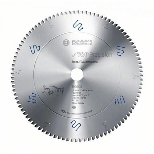Disco multimaterial Bosch para sierra circular 305 x 30 mm 96 dientes