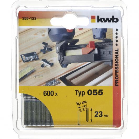 Set de 800 grapas de acero 18 mm Kwb