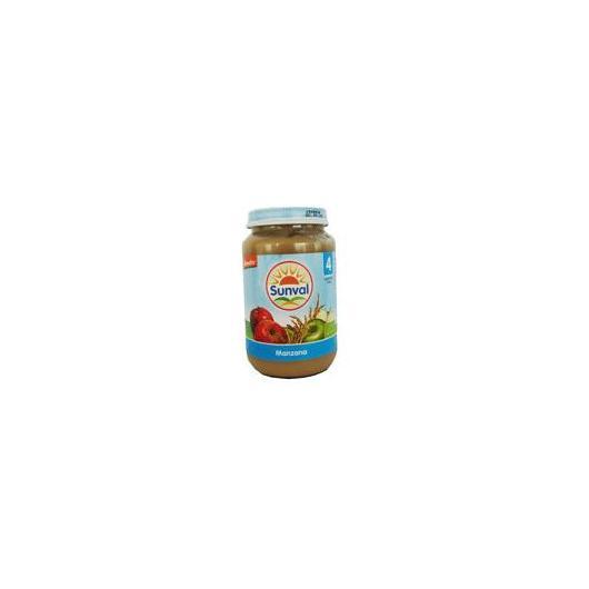 Petit pot à la pomme Sunval, 190 g