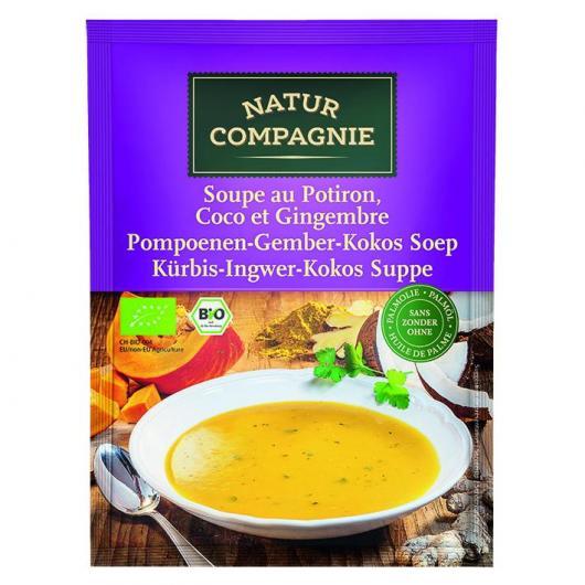 Soupe de citrouille avec gingembre et noix de coco Natur Compagnie, 40 g
