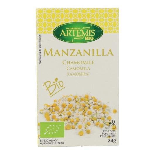 Manzanilla Artemis, 20 filtros.