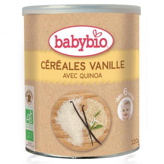 Bouillie de céréales à la vanille Babybio, 220 g
