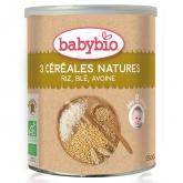 Papa 3 cereais babybio, 250 g