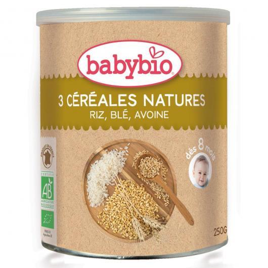 Papilla 3 Cereales babybio, 250 g