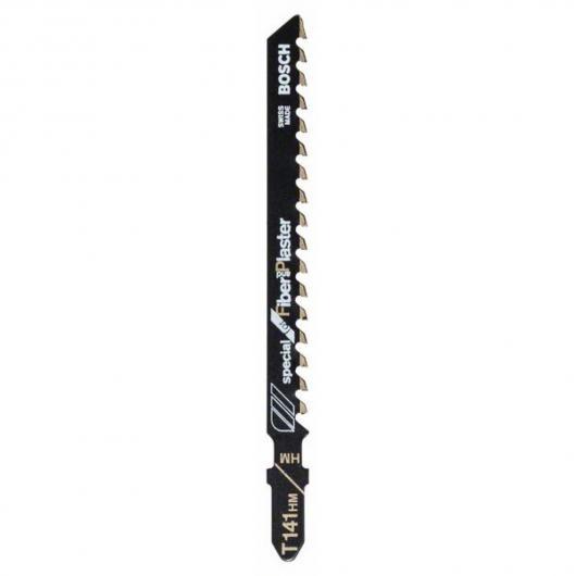 Pack de 3 lames de scie sauteuse T 141 HM Bosch pour coupes du plâtre et fibre ciment