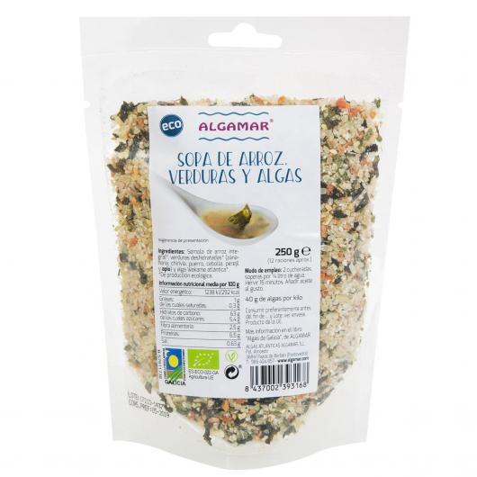 Soupe de riz, légumes et algues ALGAMAR, 250 g