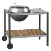 Barbecue 1501 Kettle 54 con piano cottura e tavola di legno Dancook