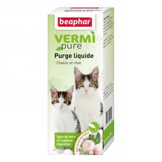 Tratamiento antiparasitario Purga natural para gatos