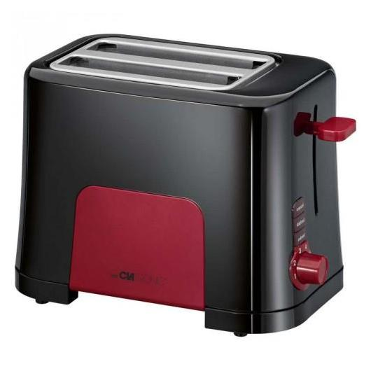 Tostador TA 3551 negro y rojo, Clatronic