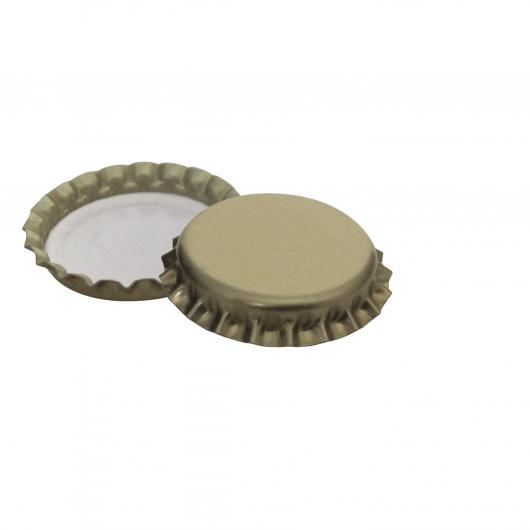 Chapas doradas 26 mm, 100 ud