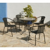Set muebles jardín mosaico Goa Brasil 75/4