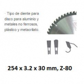 Disco da taglio di widia Stayer DW Alluminio 254 x 3.2 x 30 mm e 80 denti HQ
