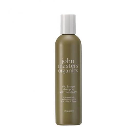 Shampooing/après-shampooing zinc et sauge John Masters Organics, 236 ml