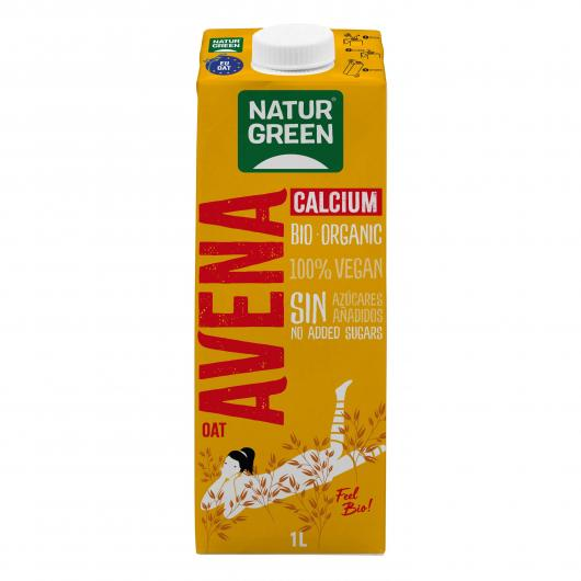 Bevanda di Avena Calcio NaturGreen, 1 L