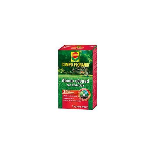 Abono césped con herbicida Compo, 3 Kg