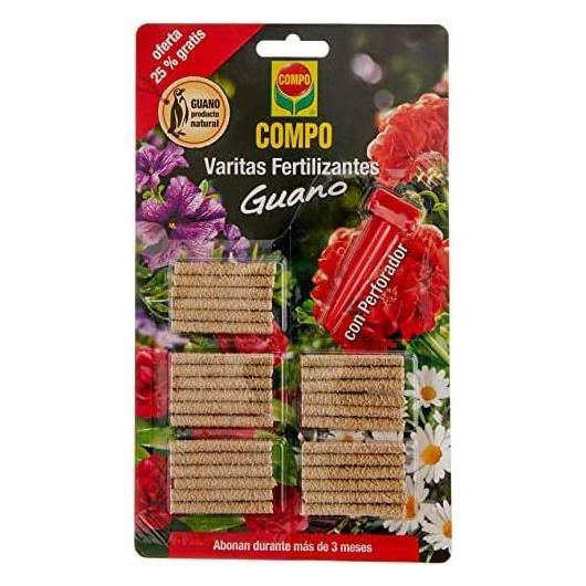 Bastoncini di fertilizzante guano Compo, 26 unità