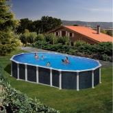 Imitação piscina oval rattan 610 x 375 x 132 cm, com sistema de feixe Gre