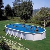 Piscina Bianca ovale 1000 x 550 x 132 cm Gre