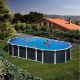 Imitação piscina oval rattan 730 x 375 x 120 centímetros com sistema de feixe Gre