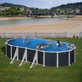 Imitação piscina oval rattan 610 x 375 x 120 centímetros Gre
