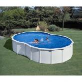 Branco figura oito piscina 710 x 475 x 120 centímetros Gre