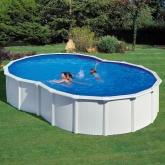 Branco figura oito piscina de 640 x 390 x 120 centímetros Gre