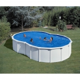 Branco piscina em forma de oito de 500 x 340 x 120 centímetros Gre