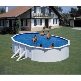 Branco piscina oval 610 x 375 x 120 centímetros Gre