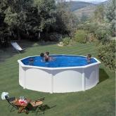 Branco Round Pool Ø 550 x 120 com sistema de feixe Gre