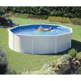 Branco Round Pool Ø 460 x 120 cm, com sistema de feixe Gre