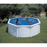Branco Round Pool O 300 x 120 cm, com sistema de feixe Gre