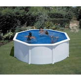 Branco Round Pool Ø 240 x 120 cm, com sistema de feixe Gre