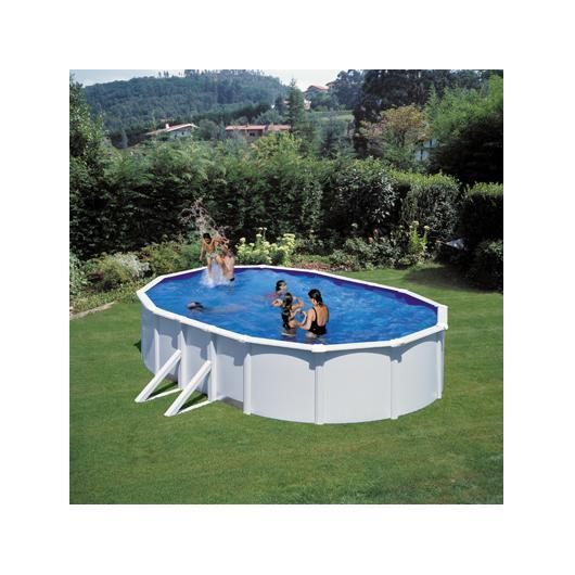 Piscina Bianca ovale  500 x 300 x 120 cm con filtro a cartuccia Gre