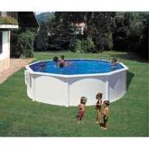 Branco Round Pool Ø 460 x 120 cm, com filtro de cartucho Gre