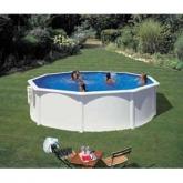 Branco Round Pool Ø 350 x 120 cm, com filtro de cartucho Gre