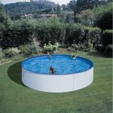 Piscina redonda blanca Ø 350 x 90 cm Gre
