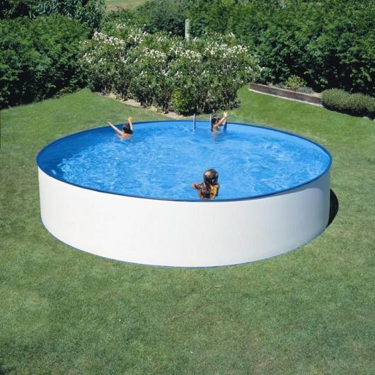 Piscina redonda blanca Ø 300 x 90 cm Gre