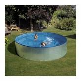 Galvanizado piscina redonda Ø 460 x 90 cm, com filtro de cartucho Gre