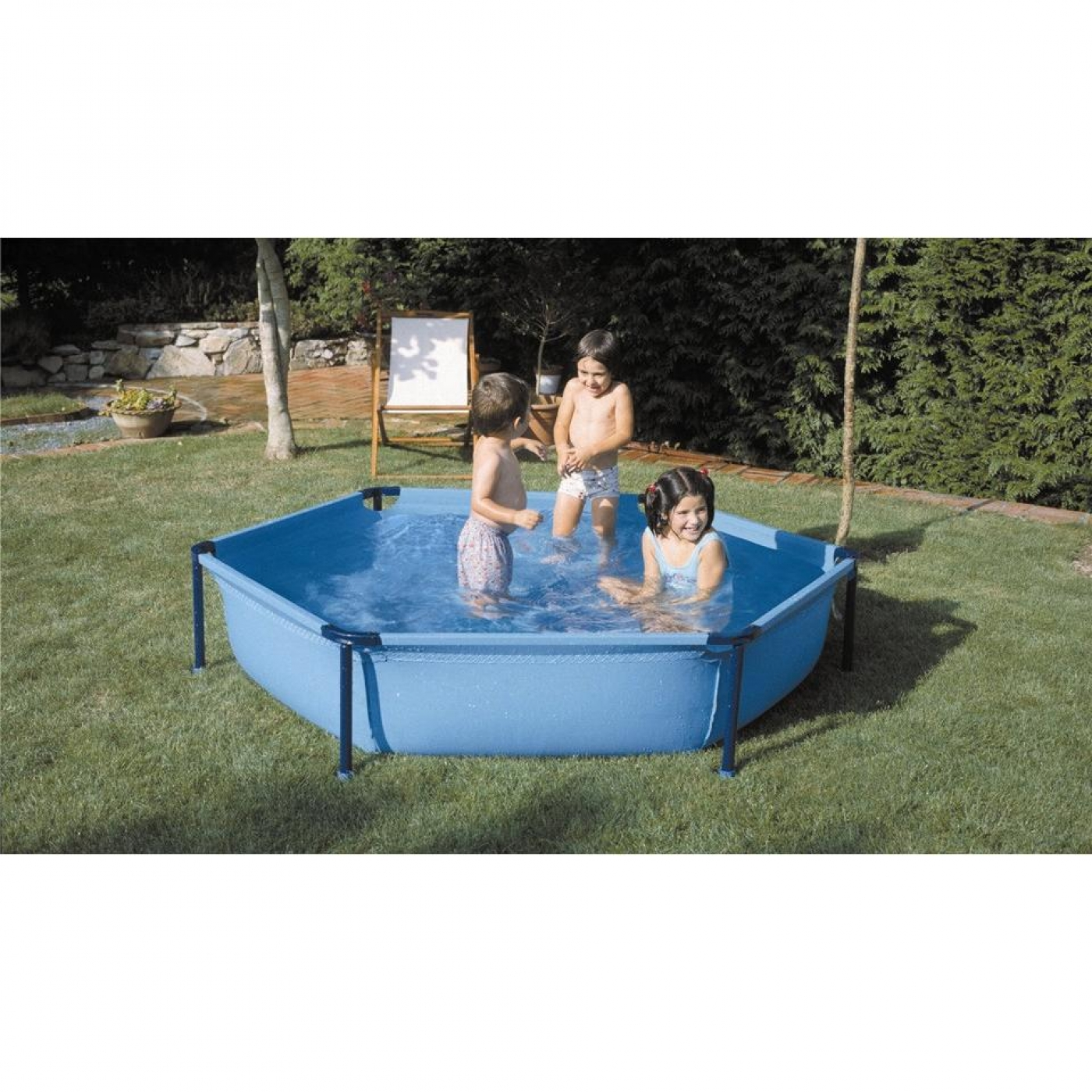 Piscina tubular hexagonal 215 x 45 cm gre por 55 00 en for Piscina intex cuadrada